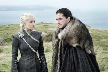 Emilia Clarke and Kit Harington in 'Game of Thrones'