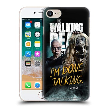 Official AMC The Walking Dead Alpha Season 9 Quotes Hard Back Case Compatible for iPhone 7 / iPhone 8