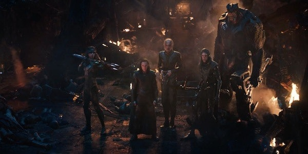 Loki stands with Thanos's Black Order in 'Avengers: Infinity War'.