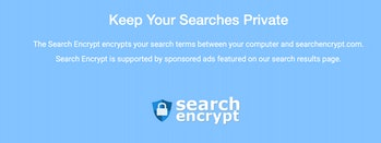 encrypted privacy search engine