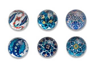 Islamic Tiles Domed Magnets