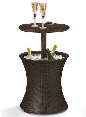 Keter Cool Bar Rattan Style Outdoor Patio Pool Cooler Table