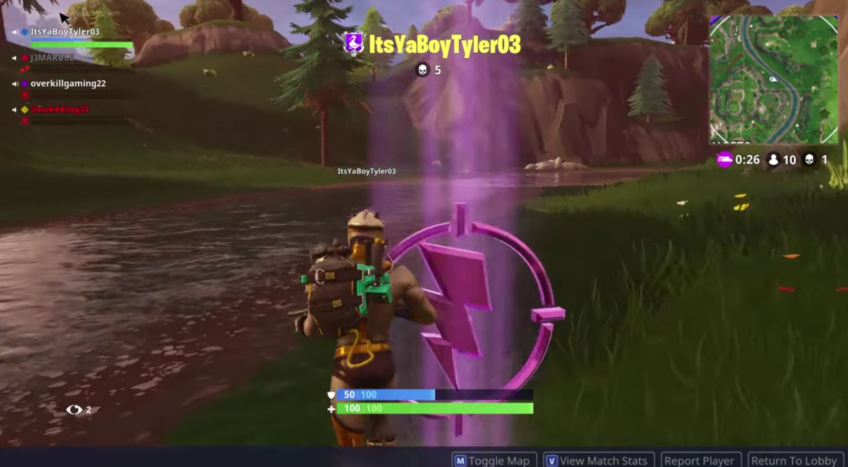 Fortnite Purple Lightning Bolt How To Find The Center Of The Storm