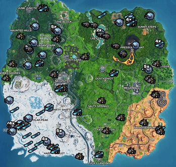 fortnite season 9 vehicle spawn locations