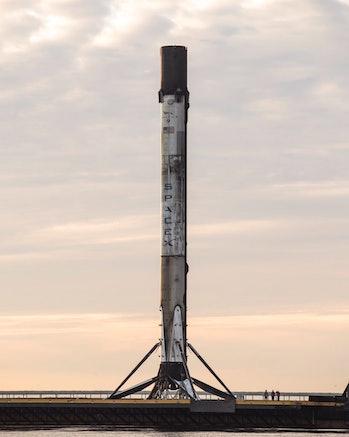 Falcon 9 at dusk.