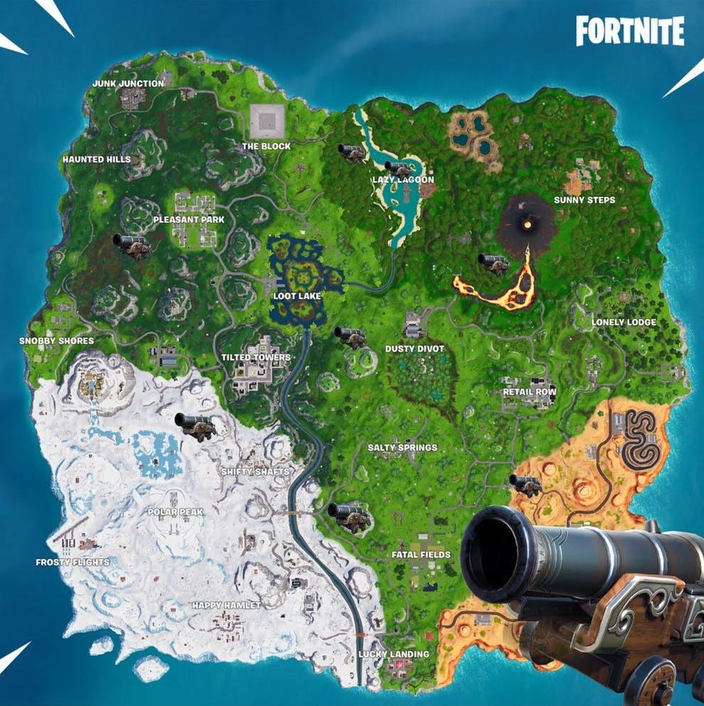 Fortnite Pirate Cannon Locations