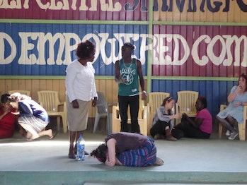 Forum theatre in Mukuru.