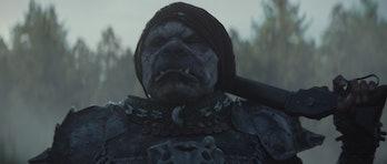A Klatooinian raider in 'The Mandalorian'