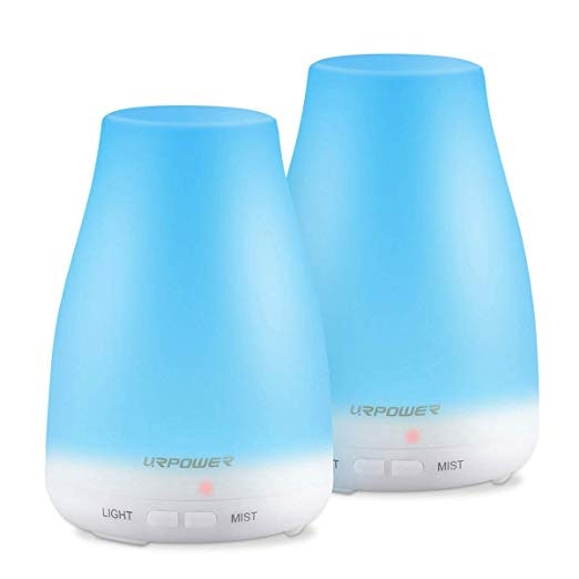 URPOWER Essential Oil Diffuser 2 Pack