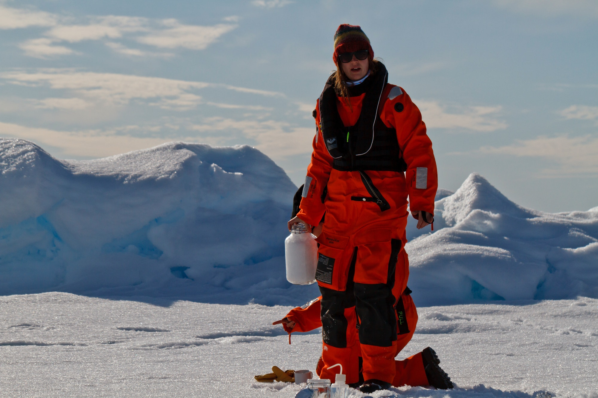 Scientists from the Alfred Wegener Institute collected snow samples in the Arctic and compared them with those closer to cities.