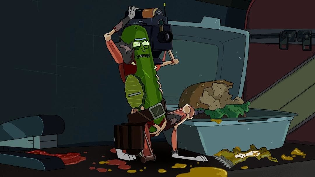 At this point in the story, Pickle Rick had killed a cockroach, dozens of rats, and several humans.