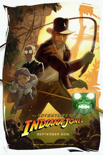 Patrick Schoenmaker's teaser poster for 'The Adventures of Indiana Jones'