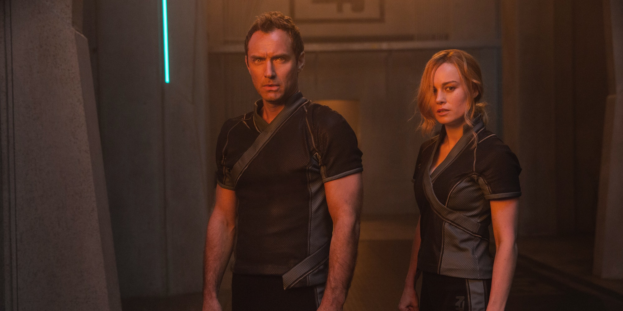 'Captain Marvel' Jude Law and Brie Larson