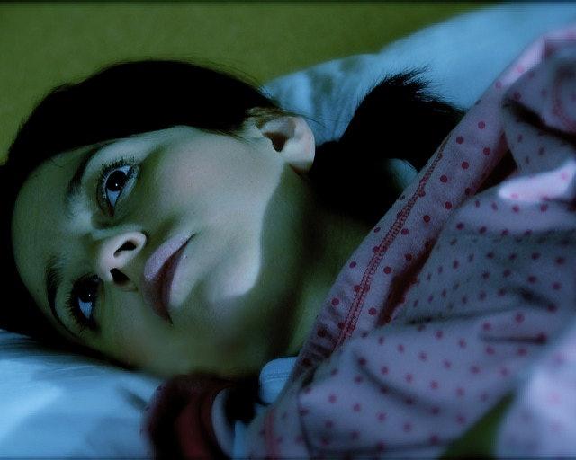 A woman who cannot sleep.