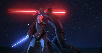 Obi-Wan finally kills Maul. But did he snatch that saber?