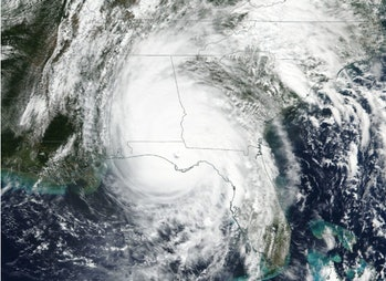 Hurricane Michael after it made landfall in the Florida panhandle.