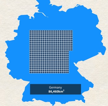 Germany powered entirely by solar.
