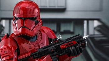 The Sith Trooper (in toy form) from 'Star Wars: The Rise of Skywalker'