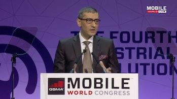 Rajeev Suri, president and CEO of Nokia, speaking at Mobile World Congress.