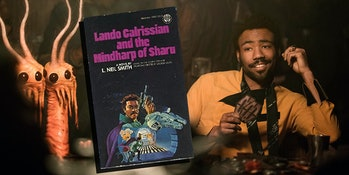 Lando plays sabacc in both 'Solo'and his own series of novels.