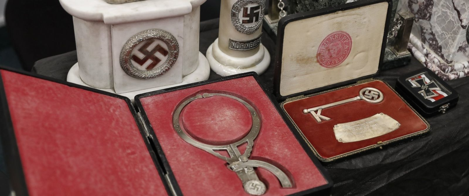 Nazi artifacts head measuring device Argentina