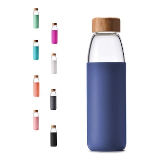 Veegoal Glass Water Bottle