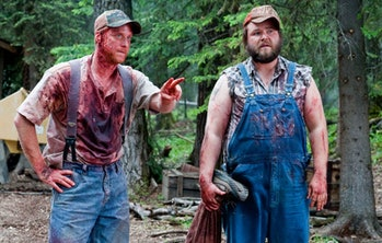 Two down-on-their luck hillbillies get mistaken for murderers, and they somehow wind up the victims.