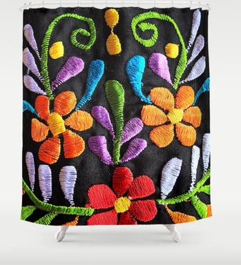 Mexican Flowers Shower Curtain