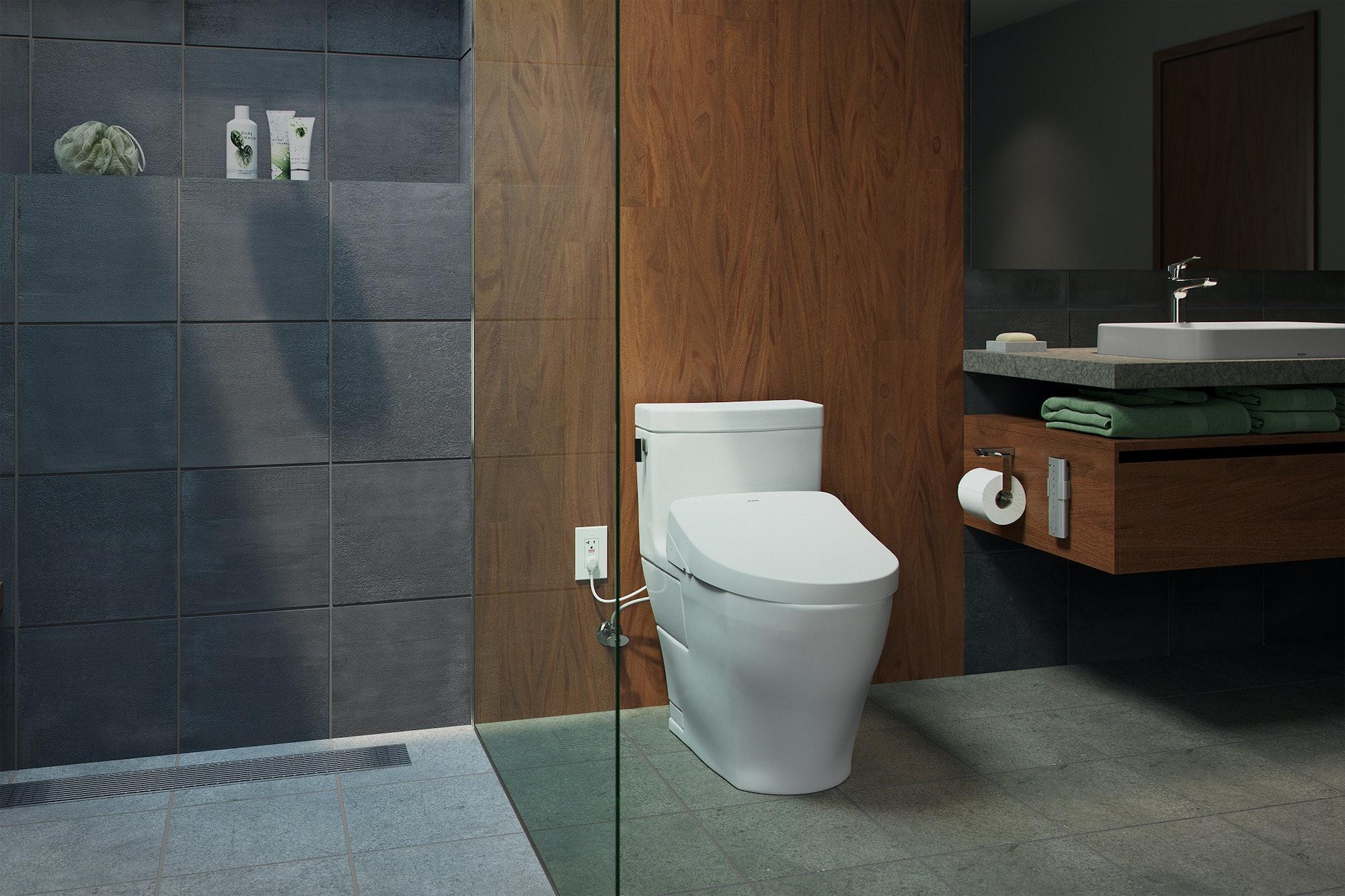 Toto Washlet s550e electronic bidet toilet seat ewater+ legato