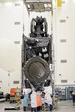 Intelsat 35e getting ready for launch.