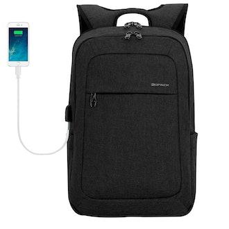 Kopack Lightweight Laptop Backpack USB Port Water Resistant