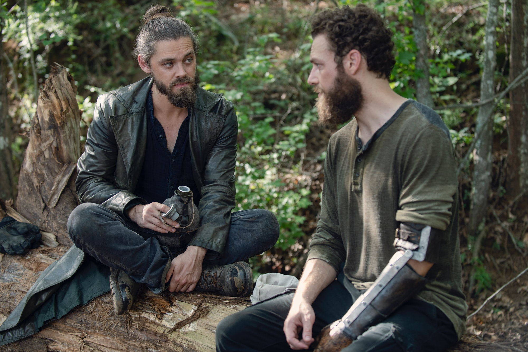 the walking dead season 9 jesus aaron tom payne ross marquand