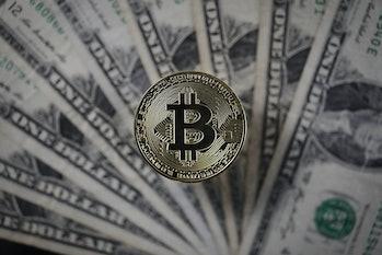 Bitcoin sits alongside U.S. dollars.