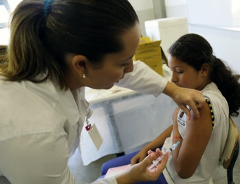 HPV Vaccination in Sao Paulo Brazil March 2014