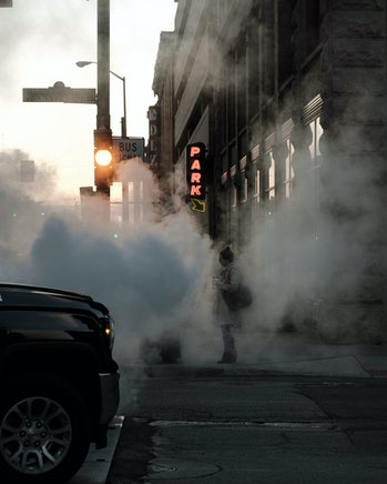 pollution on the street