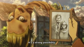 Conny's mom is a Titan on 'Attack on Titan'.