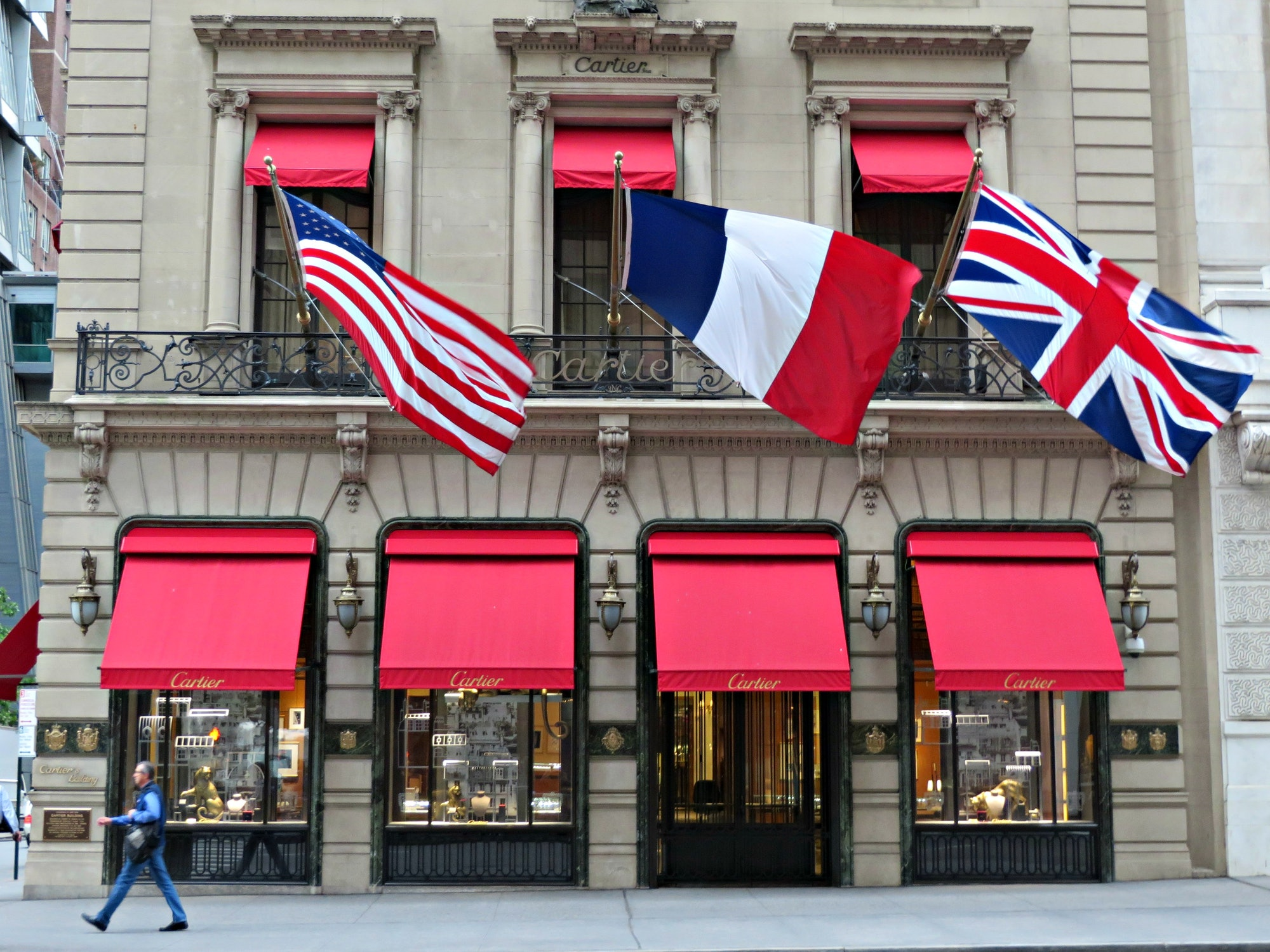 Cartier, 653 Fifth Avenue, New York City.