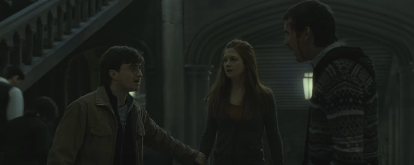 Harry Potter, Ginny Weasley, and Neville Longbottom in 'Harry Potter and the Deathly Hallows: Part 2'