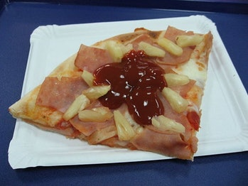Some people even put ketchup on their pizza.