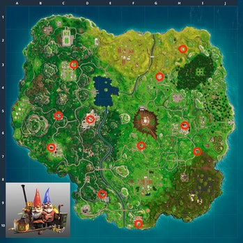 Here's the location of what might be every Hungry Gnome for the 'Fortnite: Battle Royale' Week 8 Cha...