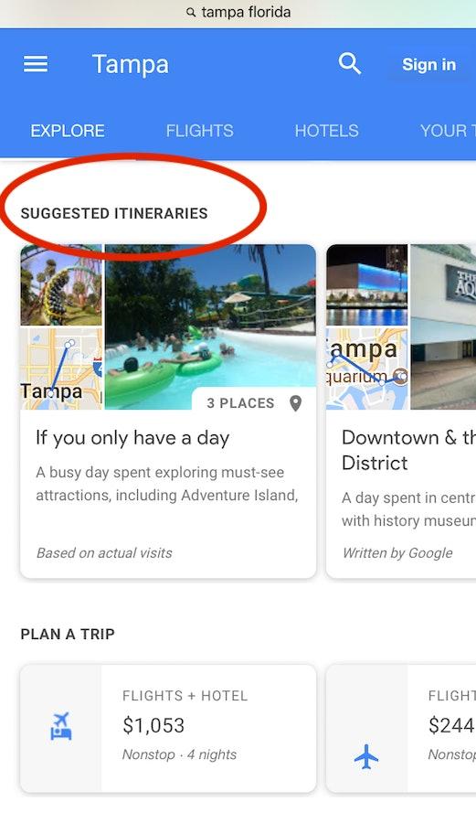 Google, hotels, travel