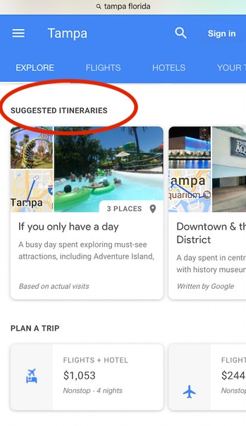 Google, hotels, travel