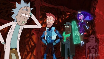 Rick nurses a hangover and grows annoyed with the Vindicators.