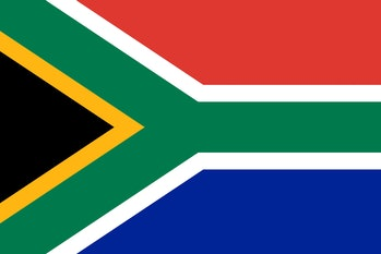 south africa, flag