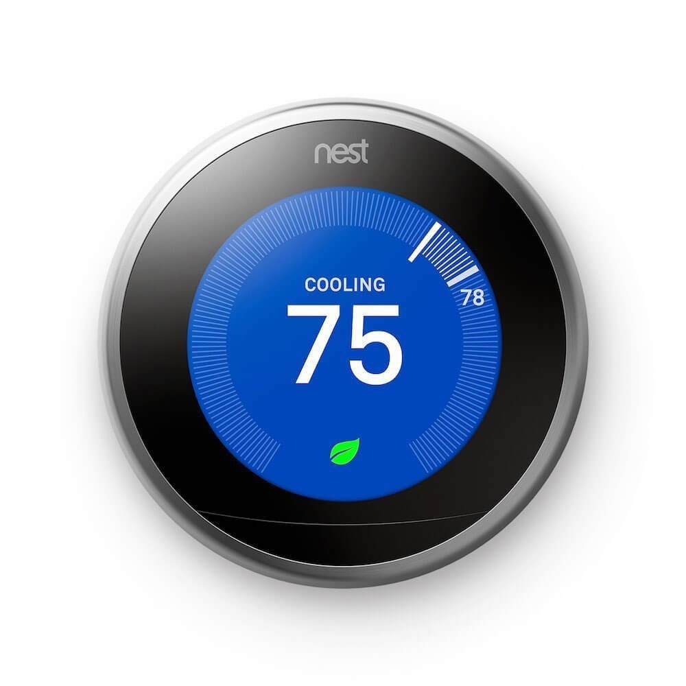 Nest T3019US Nest Learning Thermostat, Polished Steel