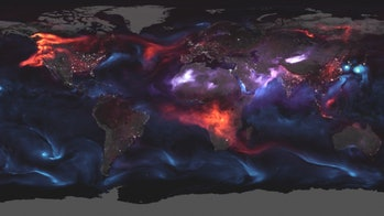 Visualization of aerosol movement on August 23.