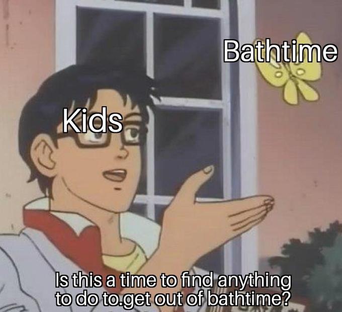 bathtime pigeon meme