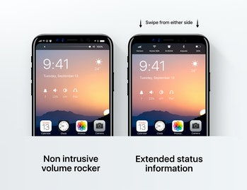 Some adjustments to the iPhone 8's design.