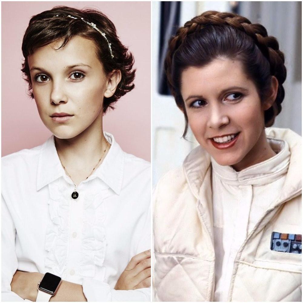 Millie Bobby Brown as Princess Leia