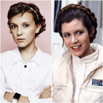 Millie Bobby Brown as Princess Leia
